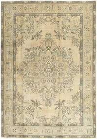 Colored Vintage Rug 205X294 Authentic  Modern Handknotted Beige/Olive Green (Wool, Persia/Iran)