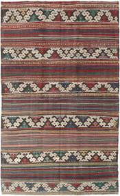 Kilim Turkish Rug 144X235 Authentic  Oriental Handwoven Light Grey/Dark Red/Dark Grey (Wool, Turkey)