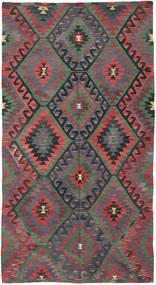 Kilim Turkish Rug 172X323 Authentic Oriental Handwoven Dark Grey/Dark Red (Wool, Turkey)