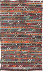 Kilim Turkish Rug 180X303 Authentic  Oriental Handwoven Dark Red/Dark Grey (Wool, Turkey)