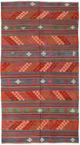 Kilim Turkish Rug 168X296 Authentic  Oriental Handwoven Dark Red/Dark Grey (Wool, Turkey)