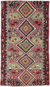 Kilim Turkish Rug 162X282 Authentic  Oriental Handwoven Dark Red/Dark Brown (Wool, Turkey)