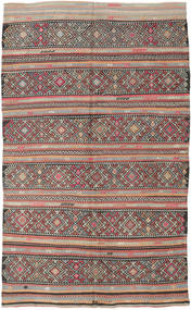 Kilim Turkish Rug 173X290 Authentic  Oriental Handwoven Light Grey/Dark Grey (Wool, Turkey)
