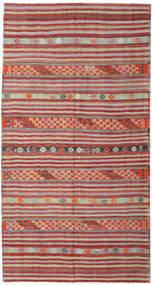 Kilim Turkish Rug 167X262 Authentic  Oriental Handwoven Dark Red/Light Brown (Wool, Turkey)