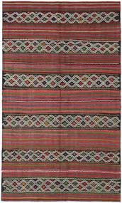 Kilim Turkish Rug 163X275 Authentic  Oriental Handwoven Dark Brown/Dark Red (Wool, Turkey)