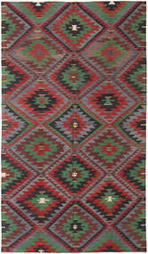 Kilim Turkish Rug 178X306 Authentic  Oriental Handwoven Dark Red/Dark Grey (Wool, Turkey)
