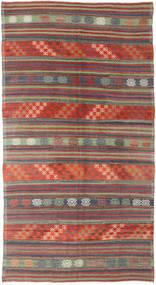 Kilim Turkish Rug 174X318 Authentic Oriental Handwoven Dark Red/Dark Grey (Wool, Turkey)