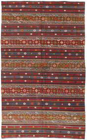 Kilim Turkish Rug 168X280 Authentic  Oriental Handwoven Dark Red/Dark Grey (Wool, Turkey)