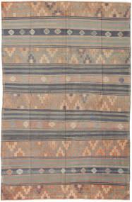 Kilim Turkish Rug 171X263 Authentic  Oriental Handwoven Light Grey/Dark Brown (Wool, Turkey)