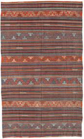 Kilim Turkish Rug 167X276 Authentic  Oriental Handwoven Dark Grey/Dark Red (Wool, Turkey)
