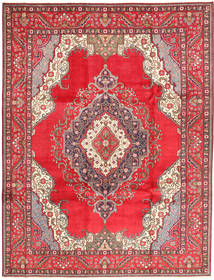 Tabriz Rug 255X334 Authentic  Oriental Handknotted Crimson Red/Beige Large (Wool, Persia/Iran)