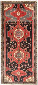 Hamadan Patina Rug 123X284 Authentic  Oriental Handknotted Hallway Runner  Dark Brown/Dark Red (Wool, Persia/Iran)