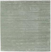 Handloom Fringes - Soft Teal Rug 250X250 Modern Square Light Green Large (Wool, India)