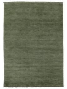 Handloom Fringes - Forest Green Rug 160X230 Modern Dark Green/Dark Green (Wool, India)