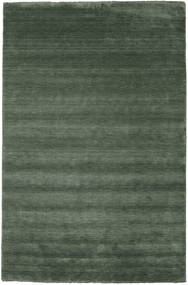 Handloom Fringes - Forest Green Rug 300X400 Modern Olive Green/Dark Green Large (Wool, India)