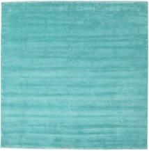 Handloom Fringes - Aqua Rug 250X250 Modern Square Dark Turquoise  /Turquoise Blue Large (Wool, India)
