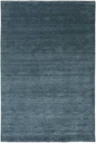 Handloom Fringes - Deep Petrol Rug 200X300 Modern Blue/Dark Blue (Wool, India)