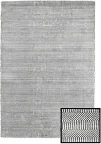 Bamboo Grass - Black_ Grey Rug 120X180 Modern Light Grey/Dark Grey (Wool/Bamboo Silk, Turkey)