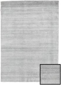 Bamboo Grass - Grey Rug 140X200 Modern Light Grey/White/Creme (Wool/Bamboo Silk, Turkey)