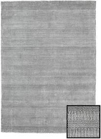Bamboo Grass - Black_ Grey Rug 140X200 Modern Light Grey/Dark Grey (Wool/Bamboo Silk, Turkey)