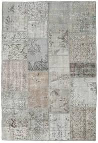 Patchwork Rug 137X203 Authentic  Modern Handknotted Light Grey (Wool, Turkey)