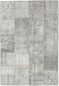 Patchwork Rug 160X233 Authentic  Modern Handknotted Light Grey (Wool, Turkey)