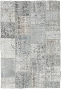 Patchwork Rug 158X231 Authentic  Modern Handknotted Light Grey/Turquoise Blue (Wool, Turkey)