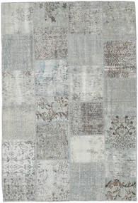 Patchwork Rug 157X230 Authentic  Modern Handknotted Light Grey/Turquoise Blue (Wool, Turkey)