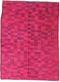 Colored Vintage Rug 144X195 Authentic  Modern Handknotted Pink/Crimson Red (Wool, Turkey)