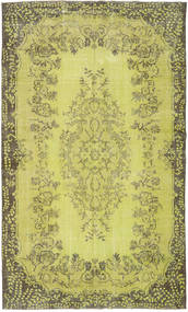 Colored Vintage Rug 182X301 Authentic  Modern Handknotted Yellow/Olive Green (Wool, Turkey)