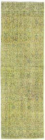 Colored Vintage Rug 82X256 Authentic  Modern Handknotted Hallway Runner  Light Green (Wool, Turkey)