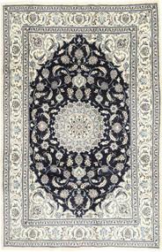 Nain Rug 201X314 Authentic  Oriental Handknotted Light Grey/Dark Grey (Wool, Persia/Iran)