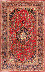 Keshan Rug 199X317 Authentic  Oriental Handknotted Rust Red/Dark Red (Wool, Persia/Iran)