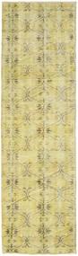 Colored Vintage Rug 76X260 Authentic  Modern Handknotted Hallway Runner  Yellow/Light Green/Beige (Wool, Turkey)