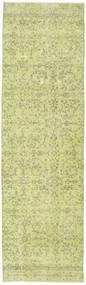 Colored Vintage Rug 81X279 Authentic  Modern Handknotted Hallway Runner  Light Green (Wool, Turkey)