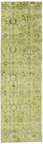 Colored Vintage Rug 80X276 Authentic  Modern Handknotted Hallway Runner  Light Green (Wool, Turkey)