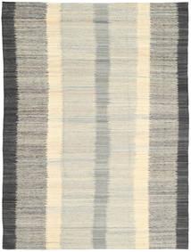 Kilim Modern Rug 210X285 Authentic  Modern Handwoven Light Grey/Dark Beige (Wool, India)