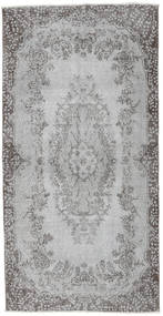 Colored Vintage Rug 112X221 Authentic  Modern Handknotted Light Grey/Dark Grey (Wool, Turkey)