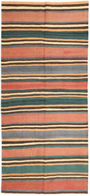 Kilim Fars Rug 160X353 Authentic  Oriental Handwoven Hallway Runner  Dark Grey/Light Pink (Wool, Persia/Iran)