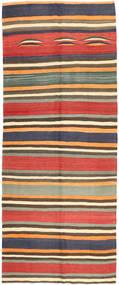 Kilim Fars Rug 152X373 Authentic  Oriental Handwoven Hallway Runner  Dark Grey/Light Brown (Wool, Persia/Iran)