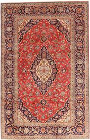 Keshan Rug 200X312 Authentic  Oriental Handknotted Dark Red/Rust Red (Wool, Persia/Iran)