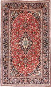 Keshan Rug 197X334 Authentic  Oriental Handknotted Dark Red/Dark Brown (Wool, Persia/Iran)