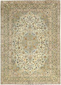 Keshan Rug 290X397 Authentic  Oriental Handknotted Dark Beige/Light Brown Large (Wool, Persia/Iran)