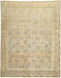 Colored Vintage Rug 280X358 Authentic  Modern Handknotted Beige/Dark Beige Large (Wool, Persia/Iran)