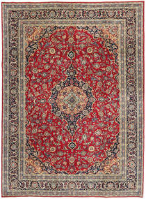 Keshan Patina Rug 247X337 Authentic  Oriental Handknotted Dark Red/Crimson Red (Wool, Persia/Iran)