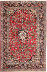 Keshan Patina Rug 237X363 Authentic  Oriental Handknotted Dark Red/Rust Red (Wool, Persia/Iran)