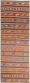Kilim Fars Rug 145X427 Authentic  Oriental Handwoven Hallway Runner  Light Brown/Orange (Wool, Persia/Iran)