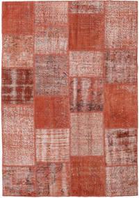 Patchwork Rug 154X223 Authentic  Modern Handknotted Dark Red/Crimson Red (Wool, Turkey)