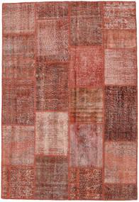 Patchwork Rug 158X232 Authentic  Modern Handknotted Dark Red/Light Pink (Wool, Turkey)