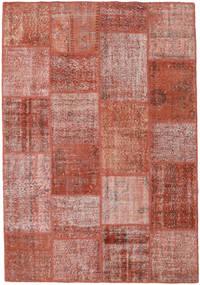 Patchwork Rug 159X230 Authentic  Modern Handknotted Dark Red/Light Pink (Wool, Turkey)